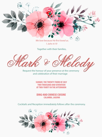 Wedding Invitation: Classic Theme