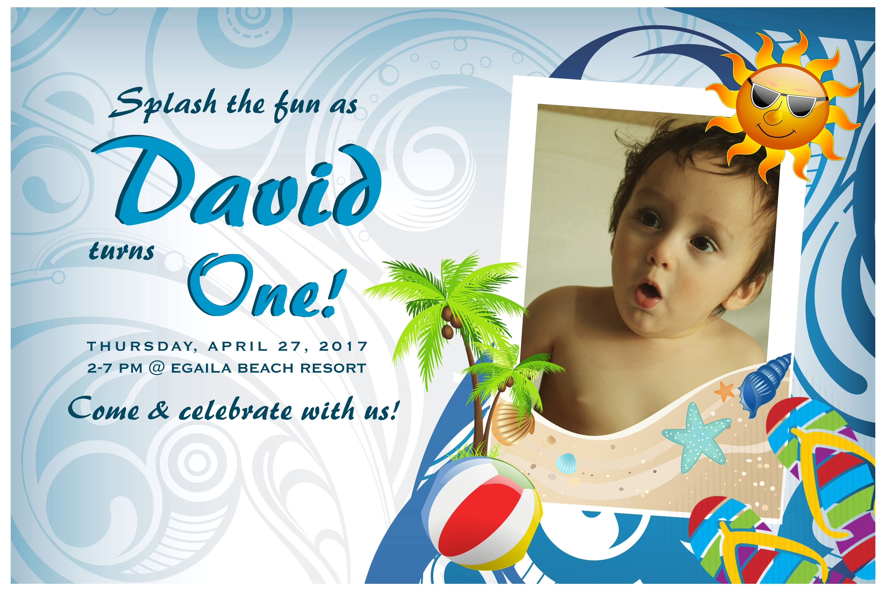 Invitation- David's 1st Birthday