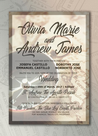 Wedding Invitation: Travel Theme